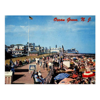 Ocean Grove, NJ, Boardwalk, 1962 Vintage Postcard