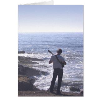 Ocean Guitar Card