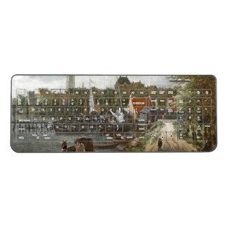 Ocean Harbor Dock Sailboat Dutch Wireless Keyboard