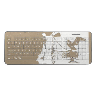 Ocean Harbor Pelican Bird Animal Wireless Keyboard