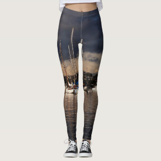 Ocean Harbor Sailboats All Over Print Leggings