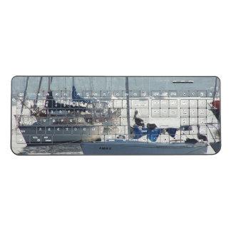 Ocean Harbor Sailboats Boats Sea Wireless Keyboard