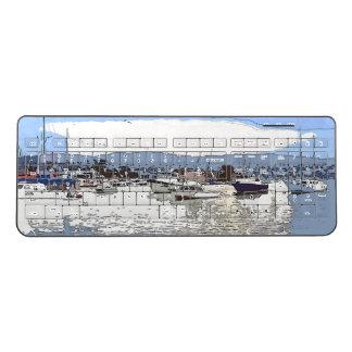 Ocean Harbor Sailboats Boats Wireless Keyboard