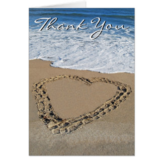 Ocean Heart Thank You Card (blank)