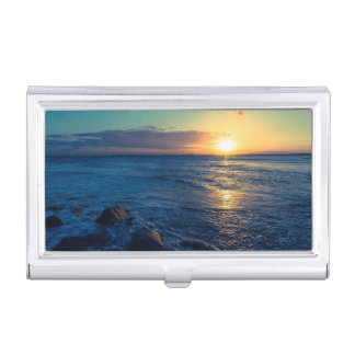 Ocean Horizon Sunset Business Card Holder