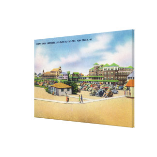 Ocean House Breakers and Parking Grounds Canvas Prints