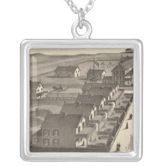 Ocean House, Point Pleasant, NJ Silver Plated Necklace