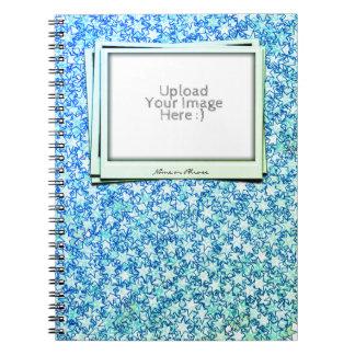 Ocean Ice Blue Stars Star Flare Firework Art Notebook