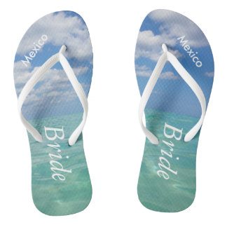 Ocean III Wedding Flip Flops Beach Bride Sandals