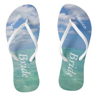 Ocean III Wedding Flip Flops Beach Bride Sandals