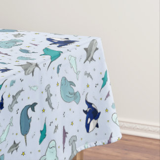Ocean in Blue Tablecloth