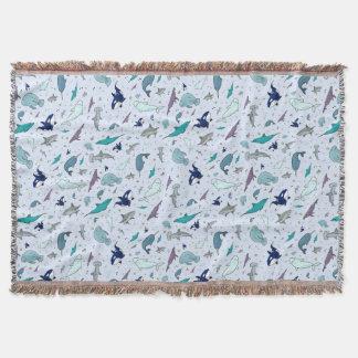 Ocean in Blue Throw Blanket