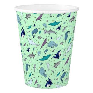 Ocean in Green Paper Cup