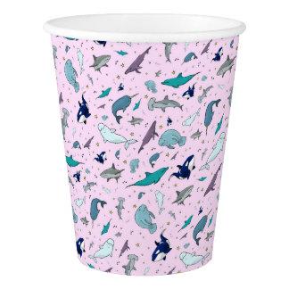 Ocean in Pink Paper Cup