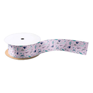 Ocean in Pink Satin Ribbon