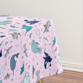Ocean in Pink Tablecloth