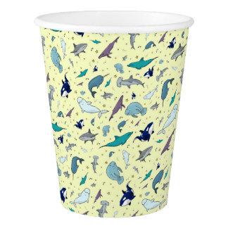 Ocean in Yellow Paper Cup