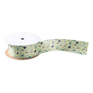 Ocean in Yellow Satin Ribbon