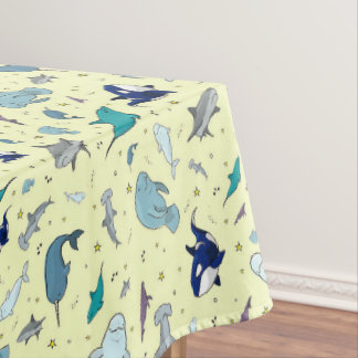Ocean in Yellow Tablecloth
