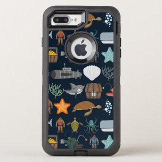 Ocean Inhabitants Pattern 1 OtterBox Defender iPhone 8 Plus/7 Plus Case