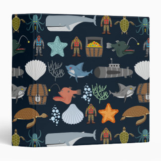 Ocean Inhabitants Pattern 1 Vinyl Binder