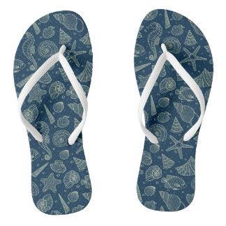 Ocean Inhabitants Pattern 2 Flip Flops