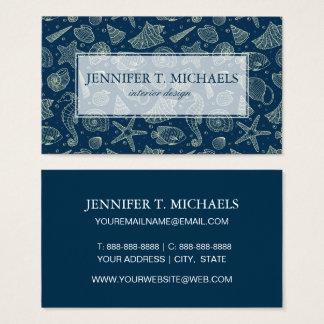 Ocean Inhabitants Pattern Business Card