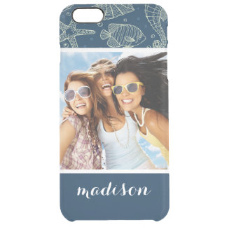 Ocean Inhabitants Pattern | Your Photo & Name Clear iPhone 6 Plus Case