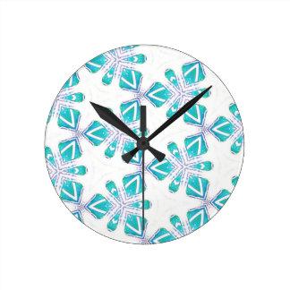 Ocean Kalidoscope Round Clock