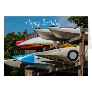 Ocean kayak greeting card