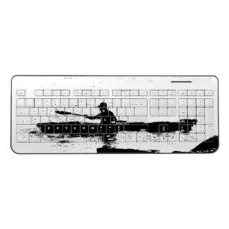 Ocean Kayaker Kayak Rowing Wireless Keyboard