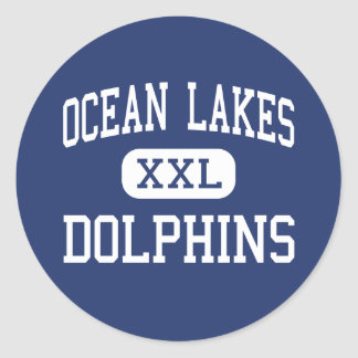 Ocean Lakes - Dolphins - High - Virginia Beach Classic Round Sticker