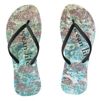 ocean life aotearoa flip flops