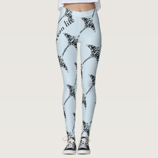 OCEAN LIFE blue manta Leggings