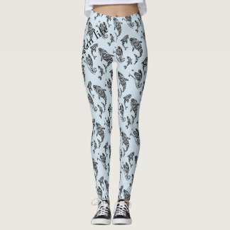 OCEAN LIFE deep blue sea Leggings