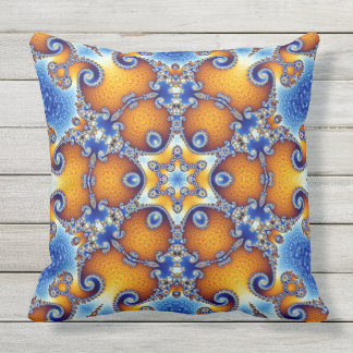 Ocean Life Mandala Outdoor Pillow