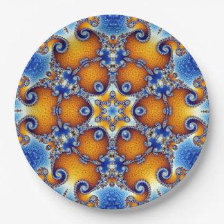 Ocean Life Mandala Paper Plate