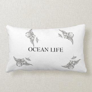 OCEAN LIFE manta-rays Lumbar Pillow