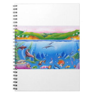 Ocean Life: Notebook II (80 Pages B&W)