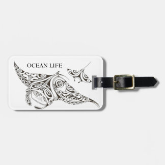 OCEAN LIFE twin rays Luggage Tag