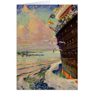 Ocean Liner seascape Card