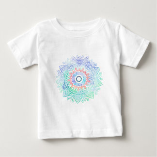 Ocean-madala. aqua blue pink baby T-Shirt