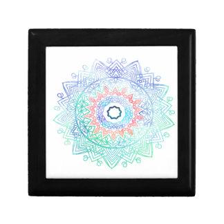 Ocean-madala. aqua blue pink gift box