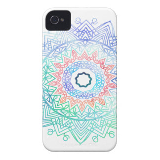 Ocean-madala. aqua blue pink iPhone 4 case