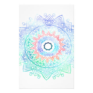 Ocean-madala. aqua blue pink stationery