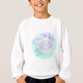 Ocean-madala. aqua blue pink sweatshirt