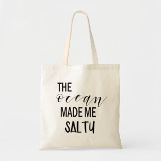 Ocean Made Me Salty Beach Summer Tote