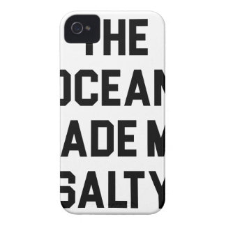 Ocean Made Me Salty iPhone 4 Case-Mate Case
