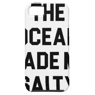Ocean Made Me Salty iPhone 5 Case