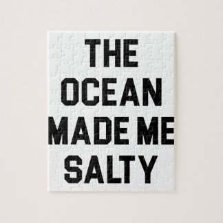 Ocean Made Me Salty Jigsaw Puzzle